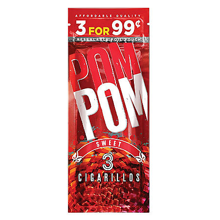 Swisher Sweets Cigarillo Pom Pom Sweet Pre-Priced (3 ct, 15 pk.)