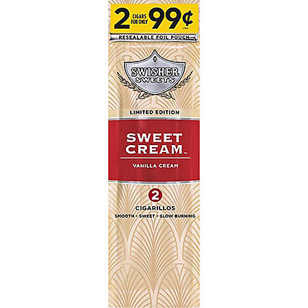 Swisher Sweets Sweet Cream Cigarillos Pre-Priced 2/$.99 (2 pk., 30 ct.)