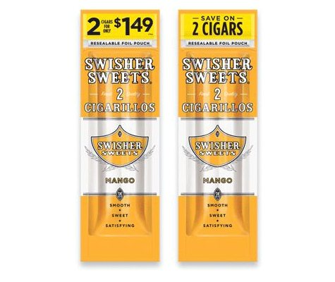 xoffline-Swisher Sweets Cigarillos, Mango, Pre-Priced 2 for $1.49 (2 pk., 30 ct.)