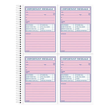 TOPS Telephone Message Book, Fax/Mobile Section,Two-Part, 400 Forms