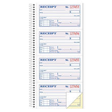 TOPS - Money/Rent Receipt Spiral Book, 2-3/4 x 4 3/4, 2-Part Carbonless, 200 Sets per Book
