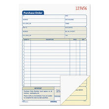 TOPS - Purchase Order Book, 5-9/16 x 7-15/16, 2-Part Carbonless - 50 Sets/Book