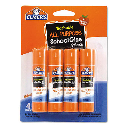Elmer's Washable All-Purpose School Glue Sticks (4 Pack)
