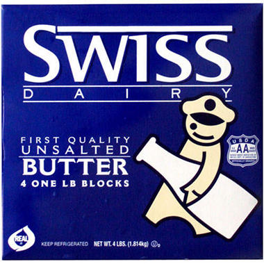Swiss Dairy Unsalted Butter (1 lb., 4 ct.)