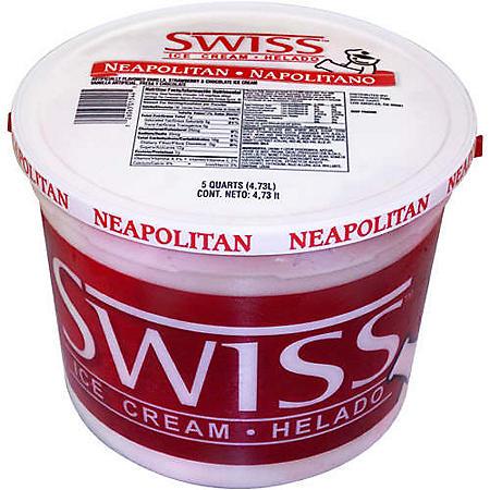 Swiss Neapolitan Ice Cream - 5 qt. pail