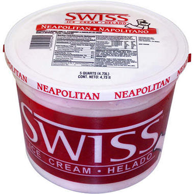 Swiss Neapolitan Ice Cream - 5 qt. pail
