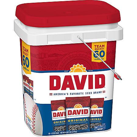 David Sunflower Seeds Bucket (1.75 oz., 60 ct.)