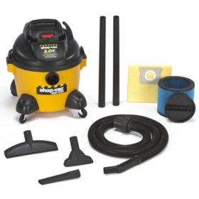 Shop-Vac Industrial HP Wet/Dry Vac - 3.0 Peak HP - 6 Gal