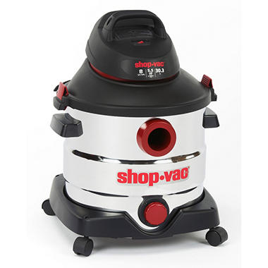 Shop-Vac Stainless Steel Wet/Dry Vac - 5.5 Peak HP - 8 Gal