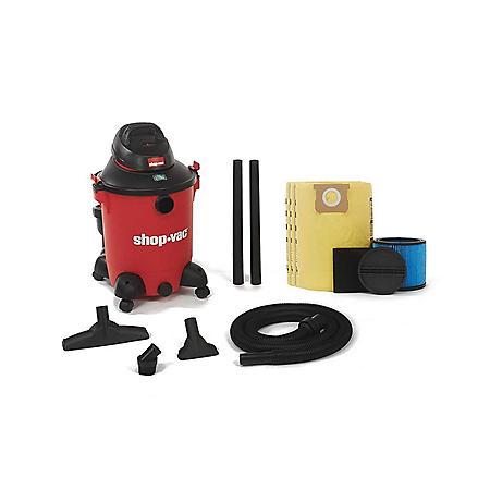 "Shop-Vac 10 Gallon 6.5 Peak HP Wet Dry Vacuum with 1½"" Accessories"
