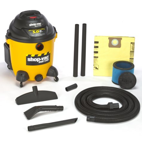 Shop-Vac Industrial HP Wet/Dry Vac - 5.0 Peak HP - 12 Gal
