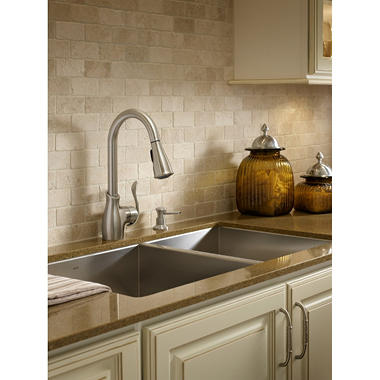 Moen Boutique Pulldown Kitchen Faucet in Spot Resist™ Stainless ...