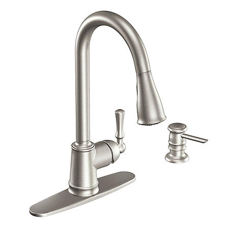 Moen Lancaster Single Handle Pulldown Kitchen Faucet - Stainless Steel