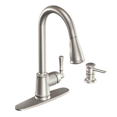 Moen Lancaster Single Handle Pulldown Kitchen Faucet   Stainless Steel