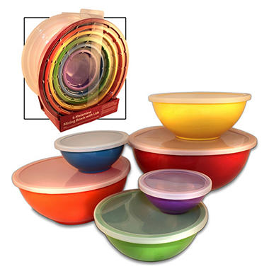 Melamine Mixing Bowls W Lids 6 Pc Sam S Club