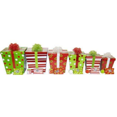 Holiday Decorative Box Set - Red/Green - 24 pc.