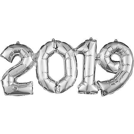 2020 Silver Linking Foil Balloons (10 pk.)