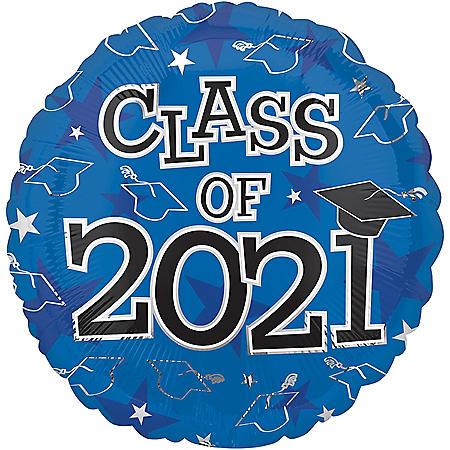 CLASS OF 2020 BLUE 17 INCH BALLOON