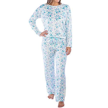 Jaclyn Long Sleeve Velour Pajama Set