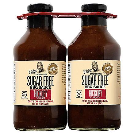 G Hughes Smokehouse Sugar-Free Hickory BBQ Sauce (26 oz., 2 pk.)