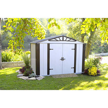 designer series steel storage shed 10 39 x 8 39 sam 39 s club. Black Bedroom Furniture Sets. Home Design Ideas