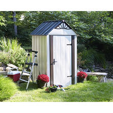 Designer Series Metro Backyard Steel Storage Shed 4' x 4'