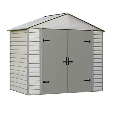 8' x 5' Viking Series Vinyl-Coated Steel Storage Shed
