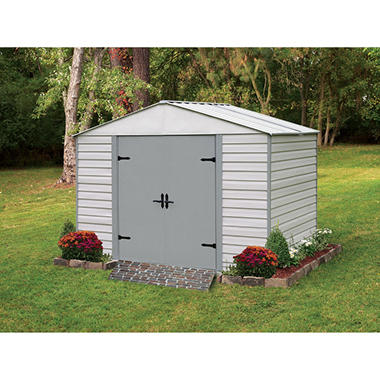 10 x 7 viking series vinyl coated steel storage shed - Garden Sheds Vinyl