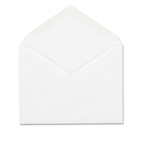 Columbian - Invitation Envelope, Gummed, Contemporary, #5 1/2, White - 100/Box