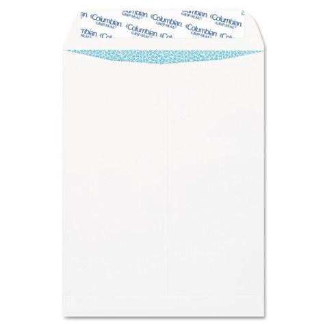 Columbian - Grip-Seal Security Tinted Catalog Envelopes, 9 x 12, 28lb, White Wove - 100/Box