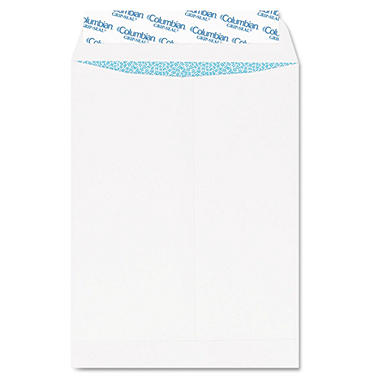 Columbian - Grip-Seal Security Tinted Catalog Envelopes, 10 x 13, 28lb, White Wove - 100/Box