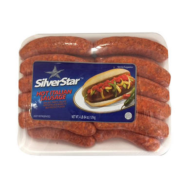 Silver Star Meats Fresh Hot Italian Sausage (4 lbs.)
