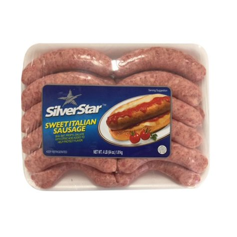 Silver Star Meats Fresh Sweet Italian Sausage (4 lbs.)