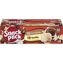 Hunt's Snack Pack Pudding Variety  (3.25 oz.., 36 ct.)