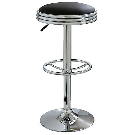 AmeriHome Retro Soda Shop Bar Stool, Black