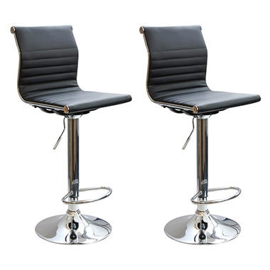 AmeriHome Adjustable Height Contemporary Bar Stools (Set Of 2)