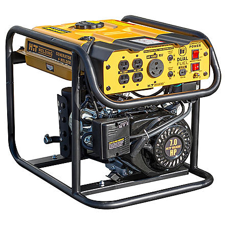 HIT 4000 Surge Watt Dual-Fuel Generator Plus Stick Welder, TIG Ready