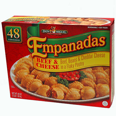 Don Miguel Beef and Cheese Empanadas - 3 lbs. - 48 ct.