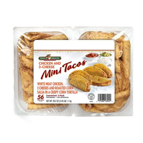 Don Miguel Chicken and Three-Cheese Mini Tacos (56 ct.)