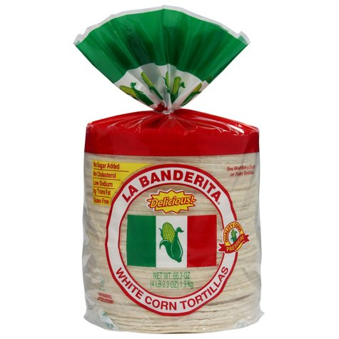 La Banderita White Corn Tortillas (80 ct.)