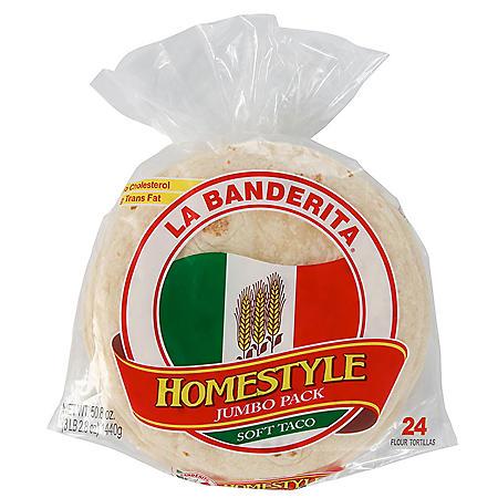 """La Banderita 9"""" Homestyle Flour Tortillas (24 ct.)"""