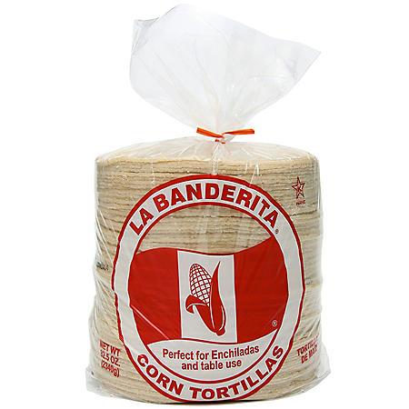 "La Banderita White Corn 6"" Tortillas, 90ct"