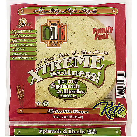 Xtreme Wellness Spinach and Herbs Wrap (12.7oz / 2pk)