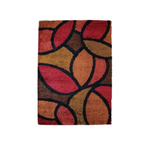 """Shag Bloompetal Rouge Accent Rug - 31""""x 45"""""""