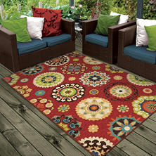 Salsalito Red Area Rug