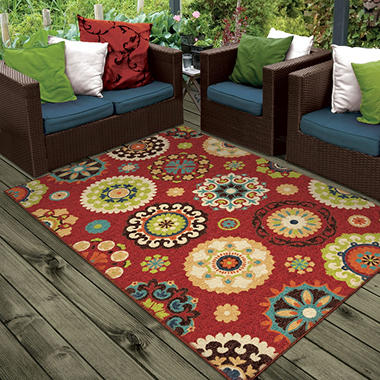 Delightful Salsalito Red Area Rug