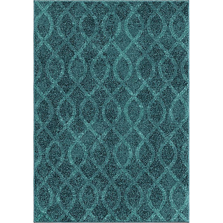 Tour de Loops Aqua Area Rug