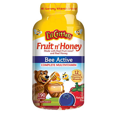 L'il Critters Fruit n' Honey Bee Active Complete Multivitamin (190 ct.)