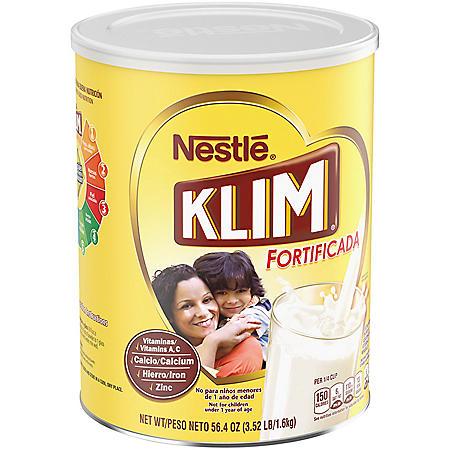 Nestle KLIM Fortificada Dry Whole Milk Powder (3.52 lb. Canister)