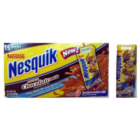 Nesquick® Reduced Fat Milk - 15/8.25 oz. cartons